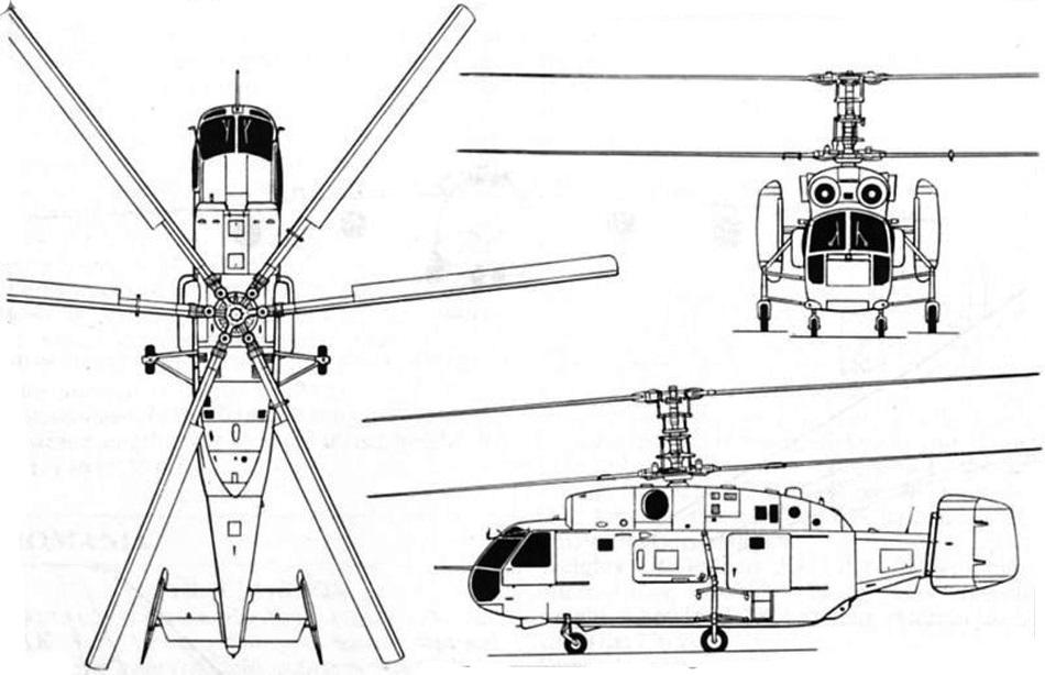 Схема вертолета Ка-32