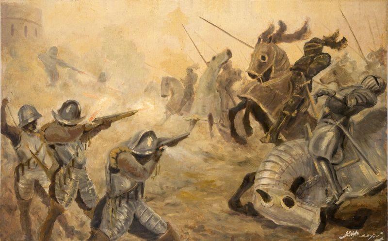 Аркебузы против конницы