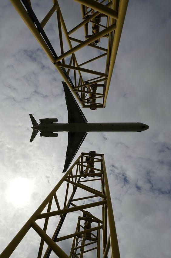 Boeing 717 в небе