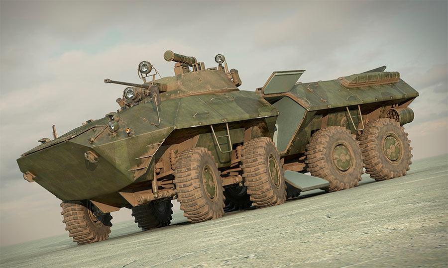 БТР-90 с открытым боковым люком