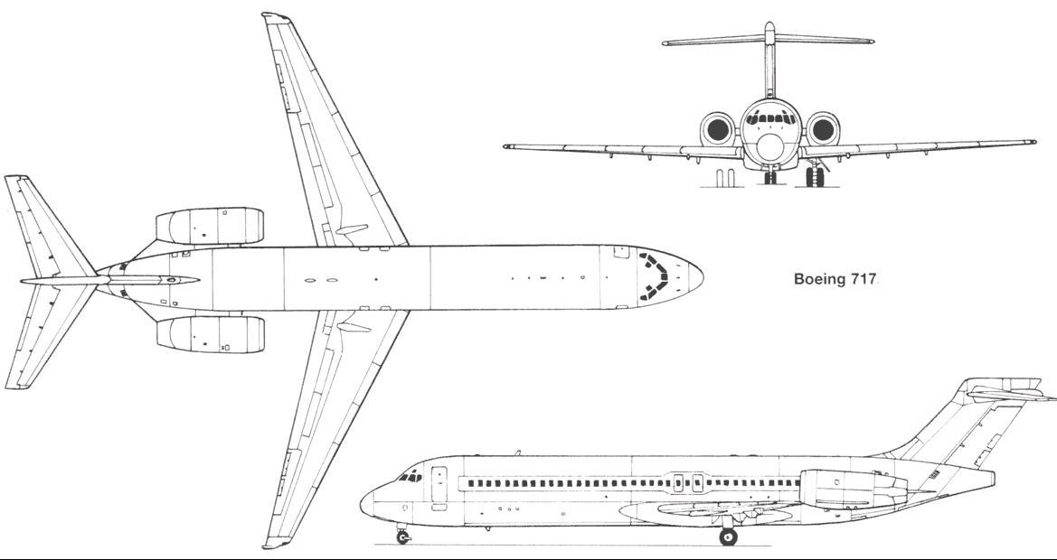 Чертеж Boeing 717