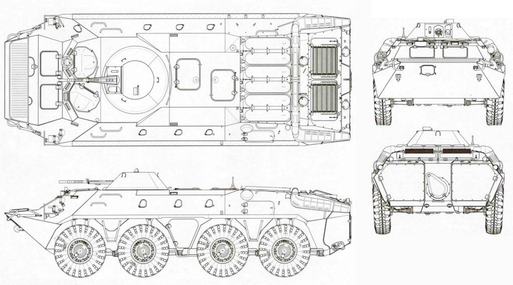 Чертеж БТР-70