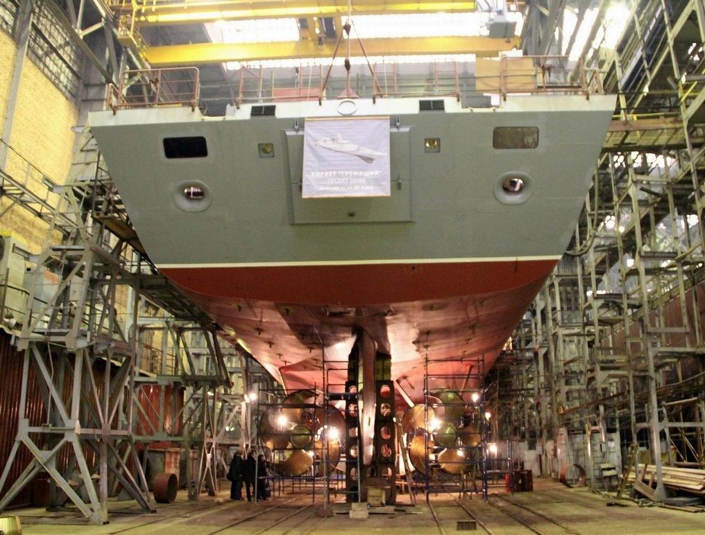 Постройка корабля проекта 20385