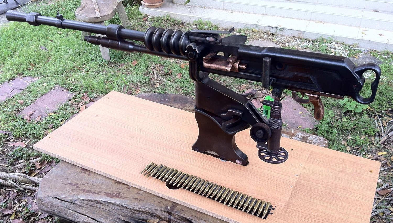 Пулемет Гочкиса и патроны