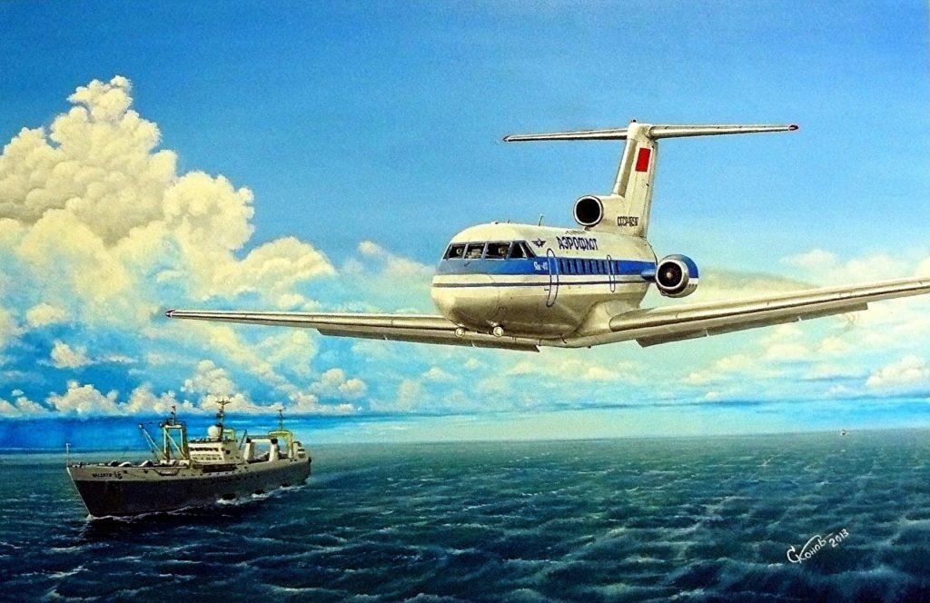 Реактивный лайнер Як-40