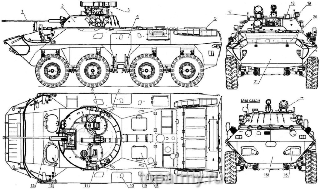 Схема БТР-90
