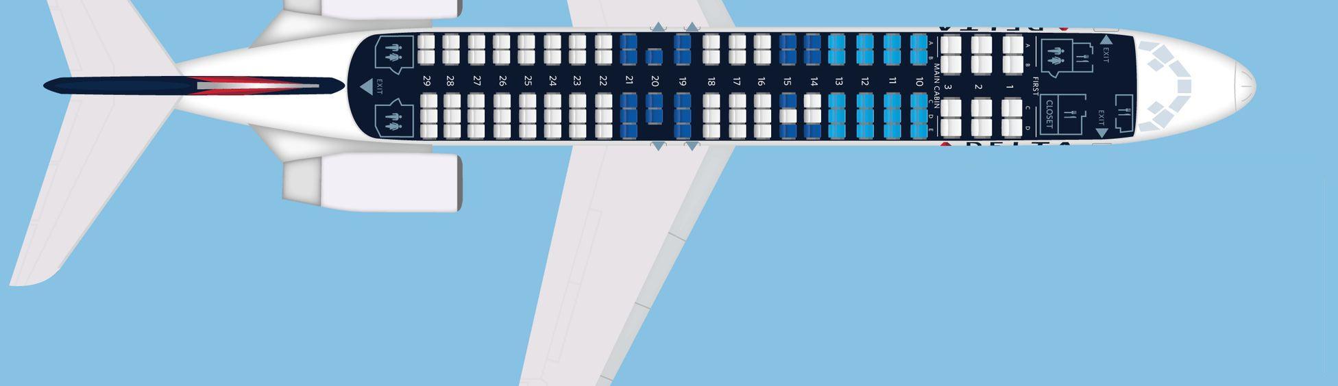 Схема салона Boeing 717