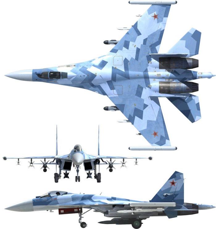 Чертеж Су-35