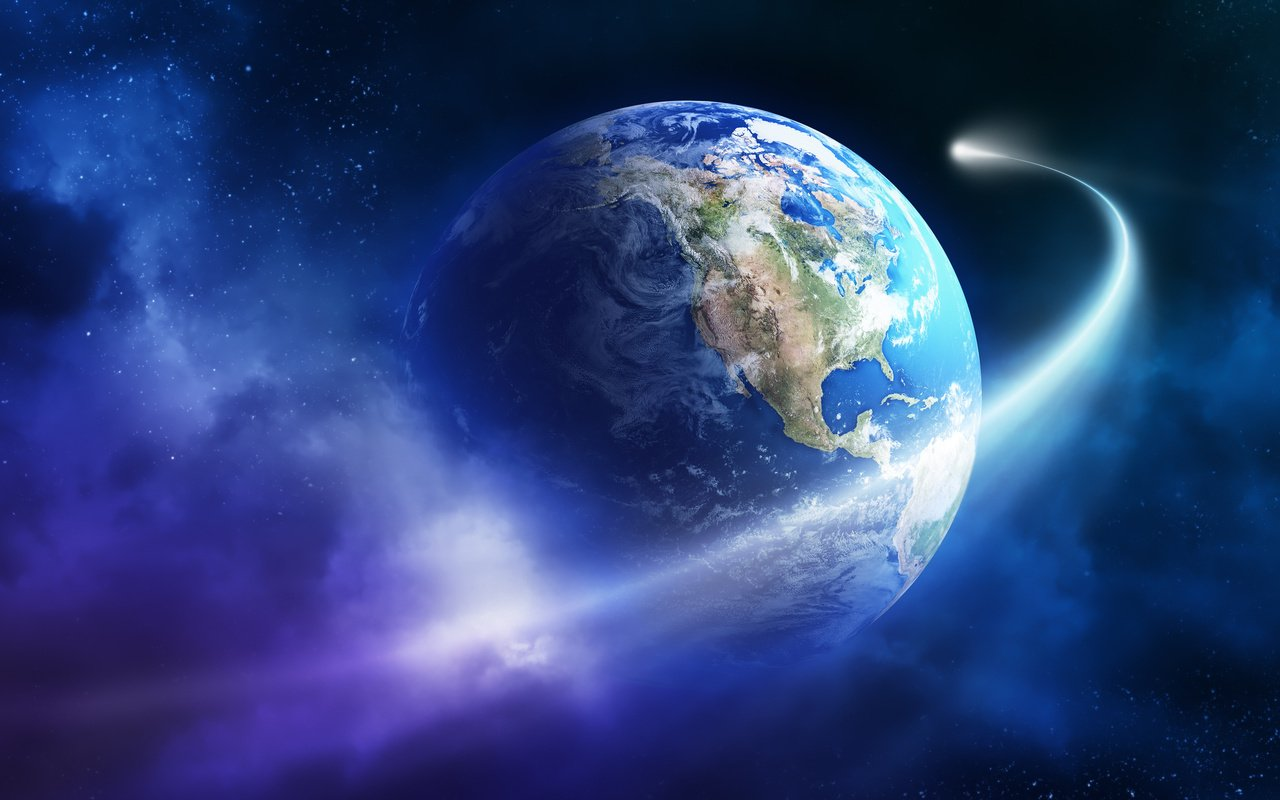 Комета Галлея и Земля