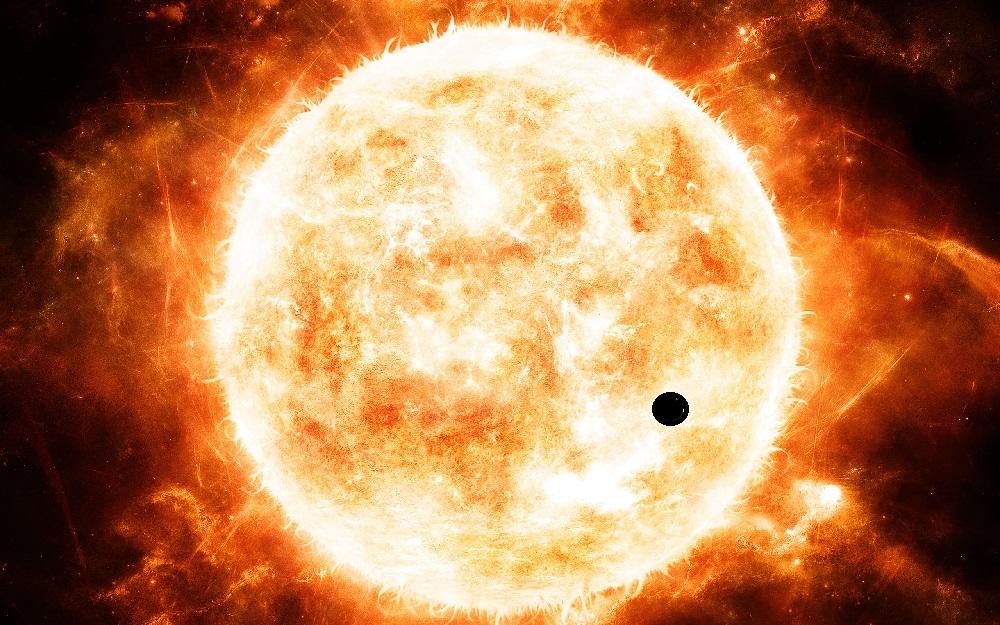 Меркурий в раскаленном диске Солнца
