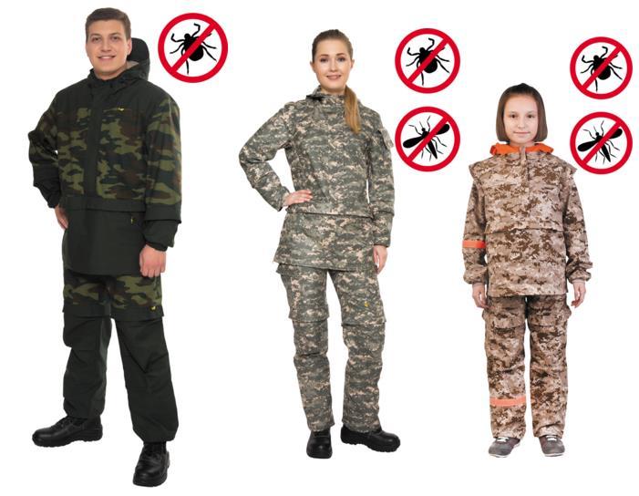 Модели антимоскитных костюмов