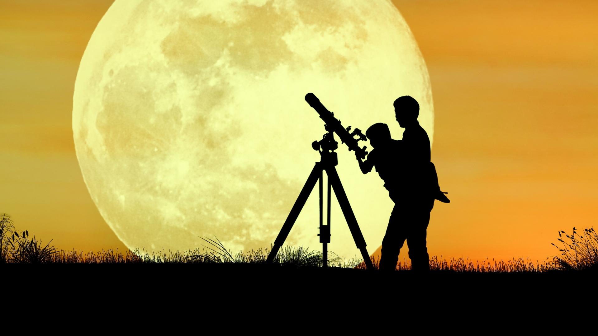 Наблюдение за Луной в телескоп