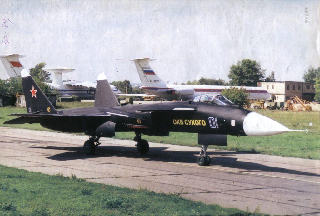 Су-47 с пилотом