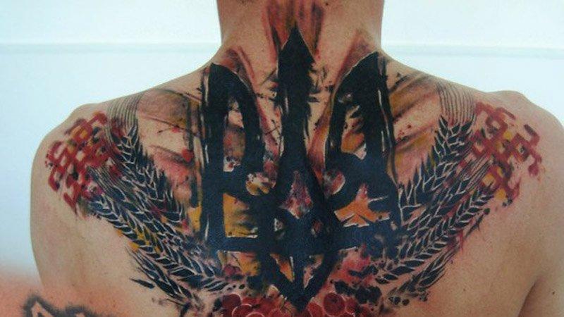 Татуировка с трезубцем