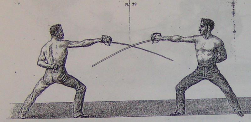 Удар саблей в спорте