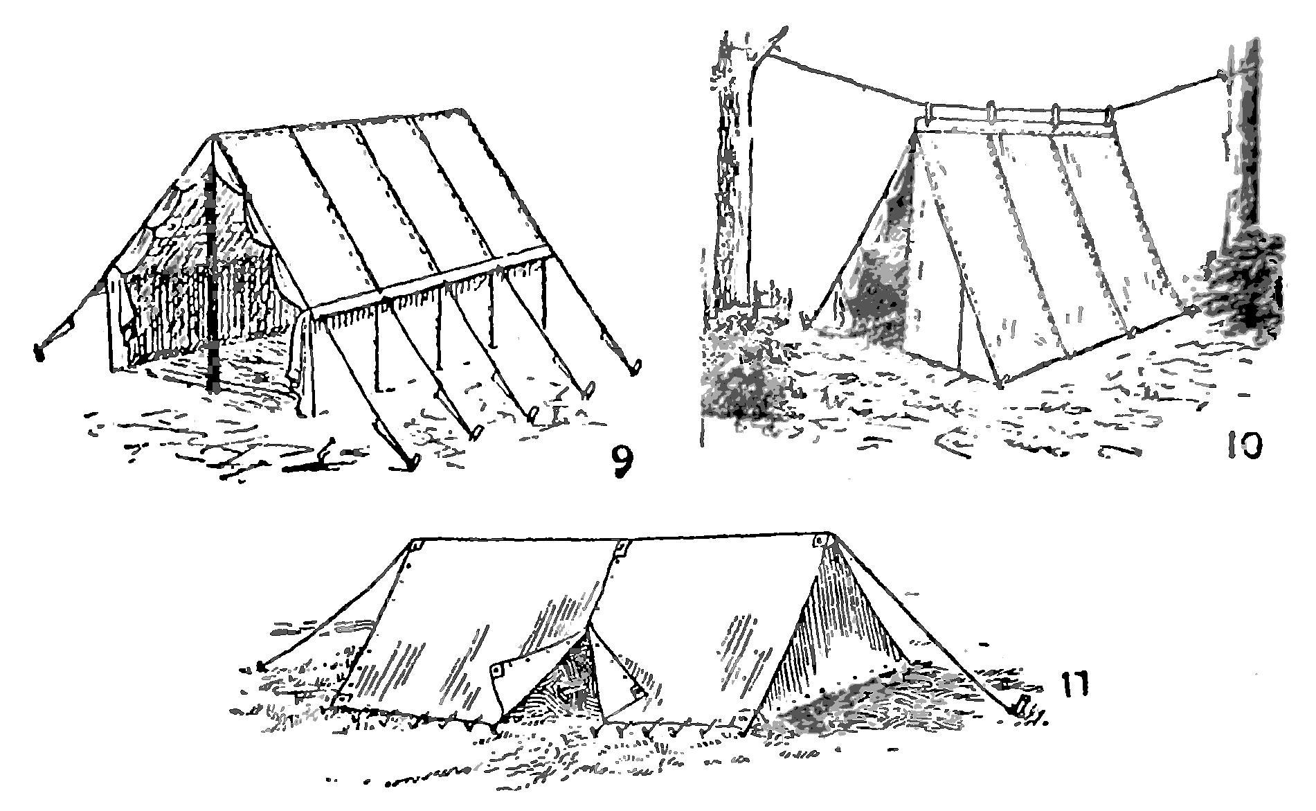 Установка плащ-палатки