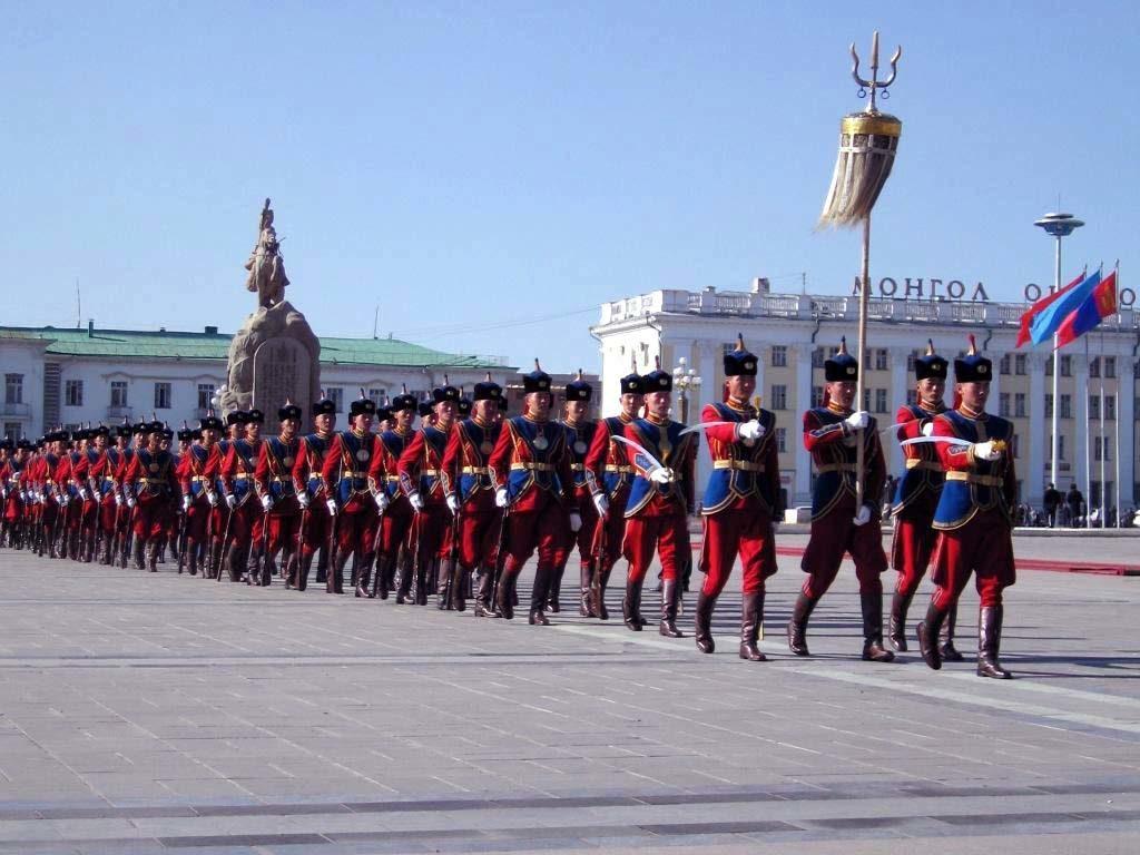 Военный парад в Монголии