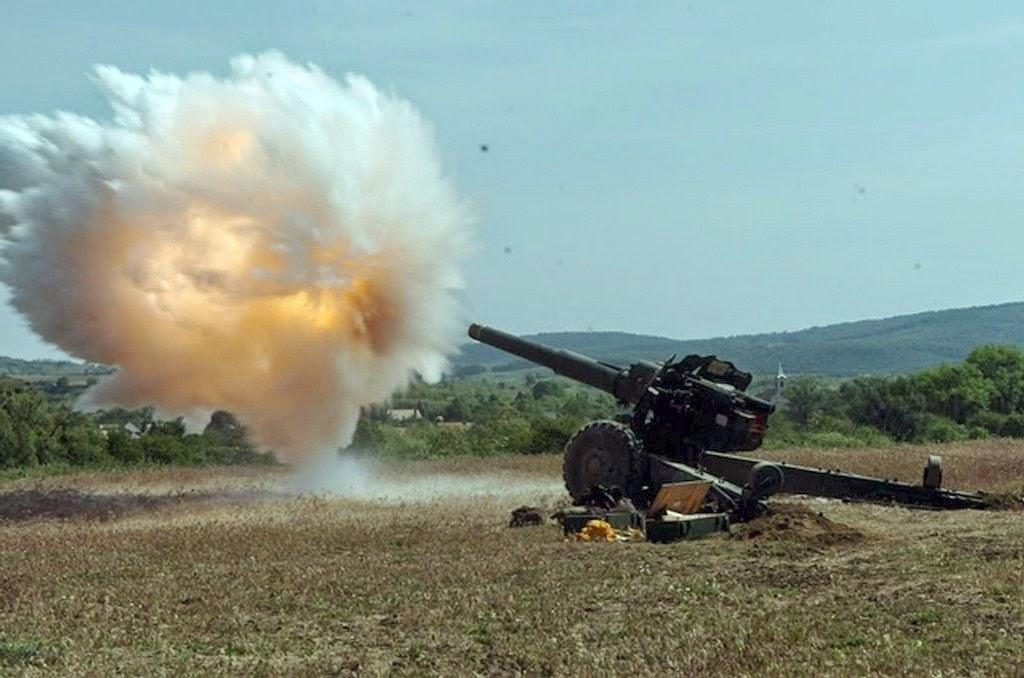 Взрыв фугасного снаряда