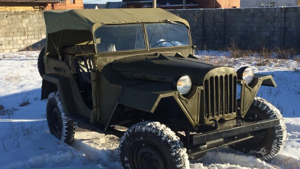 ГАЗ-67 в снегу