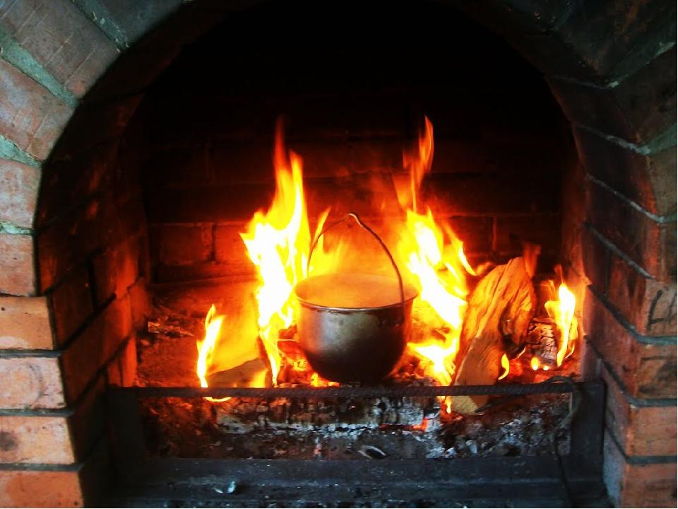 Котелок на огне