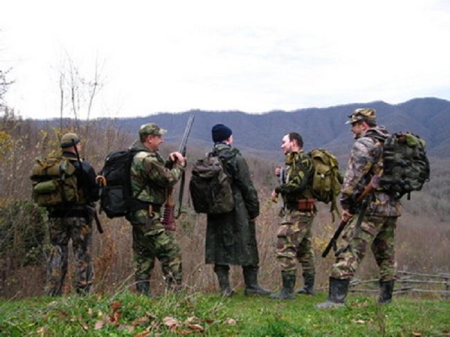 Охотники с рюкзаками
