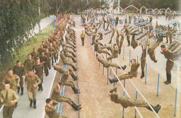 Солдаты на тренировке