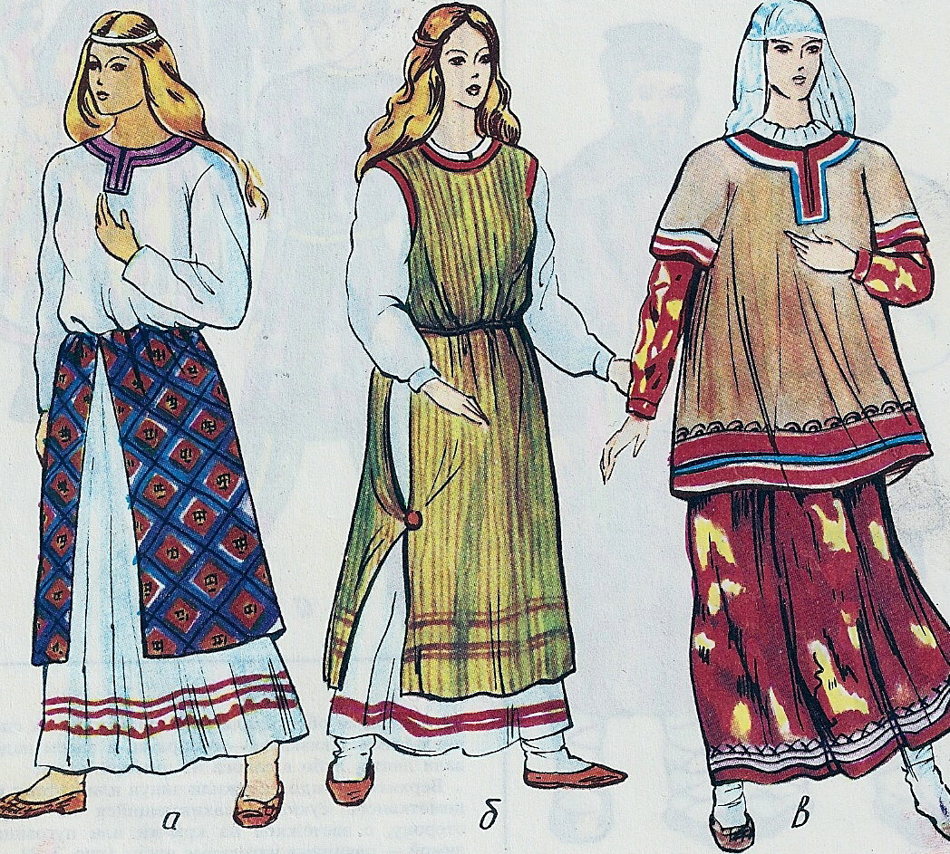 Женская славянская одежда