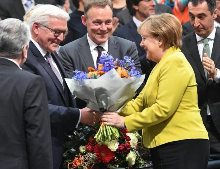 Франк-Вальтер Штайнмайер и Ангела Меркель