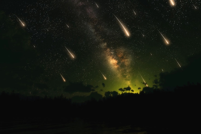 Метеоритный дождь в США