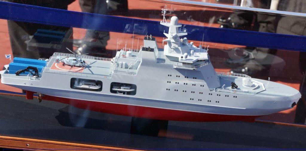 Модель ледокола проекта 23550
