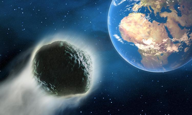 Полет астероида к Земле
