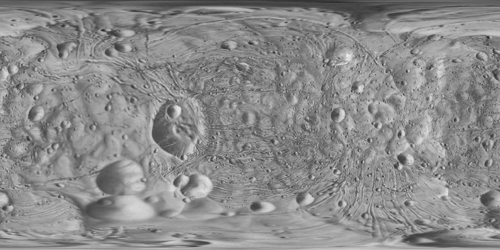 Поверхность астероида Эрос
