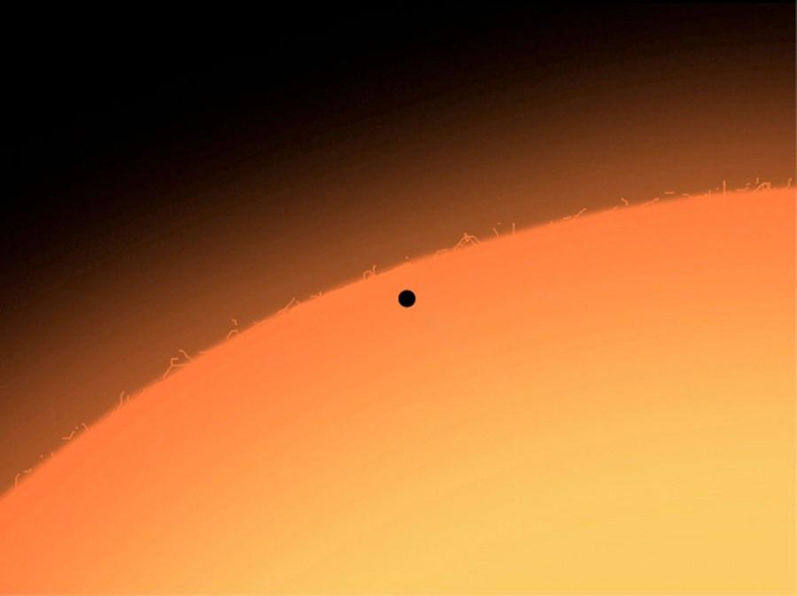 Солнечный диск в телескоп