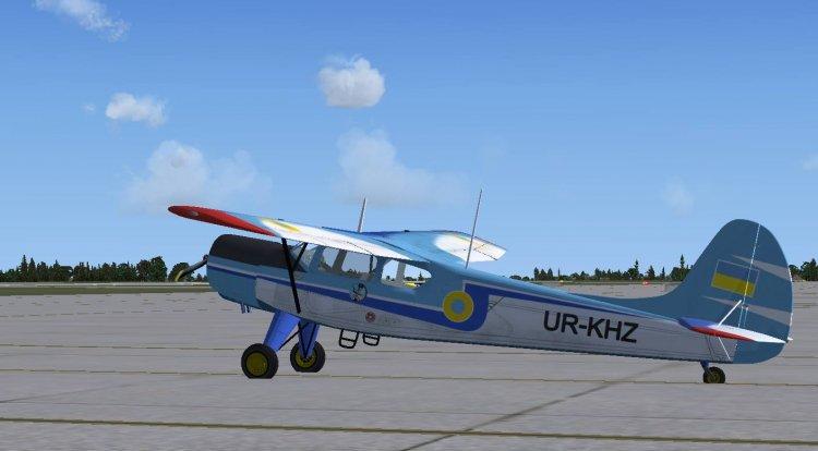 Як-12 на ВПП