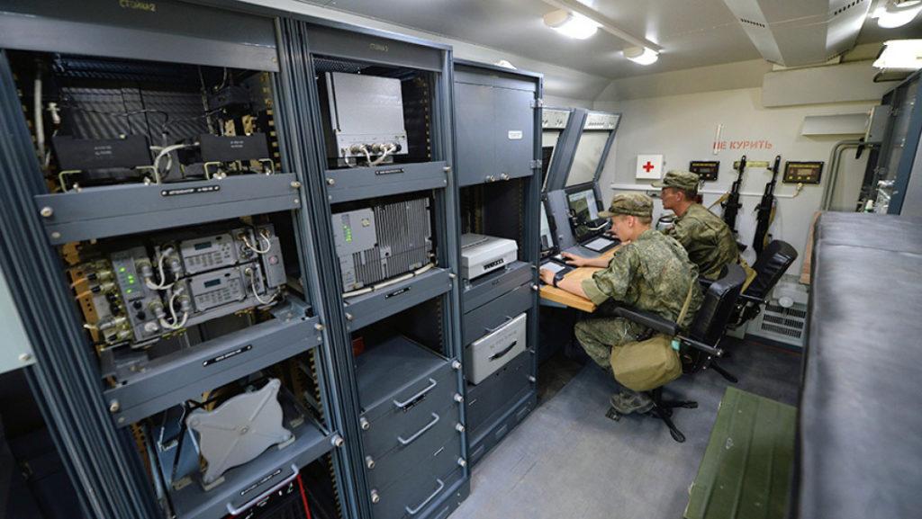 Внутри боевого модуля