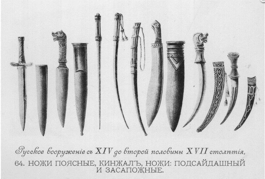 Засапожные ножи Древней Руси