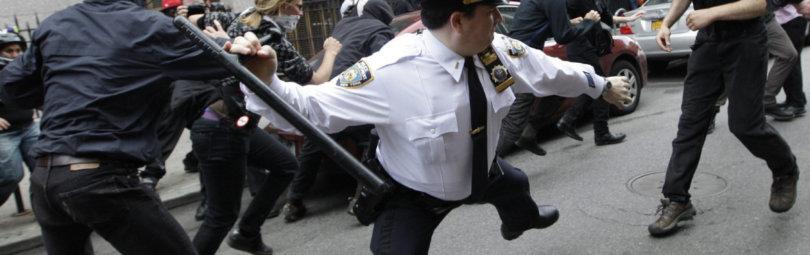 Применение полицейской дубинки