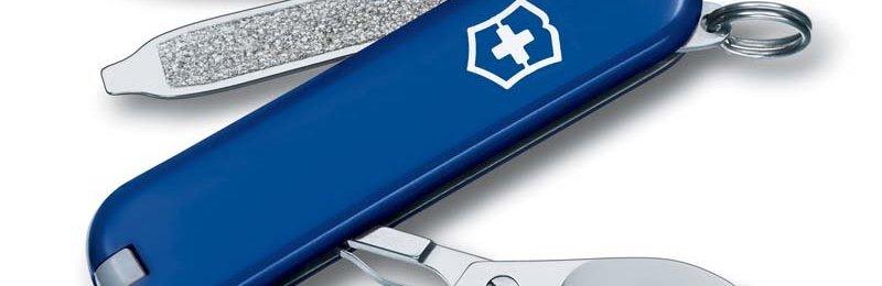 Швейцарский нож с синей рукоятью