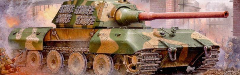 E-100 в бою